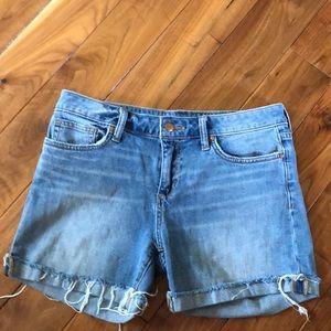Joe's Jeans light wash cut offs